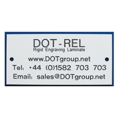 DOT-REL Rigid Engraving Laminate Labels